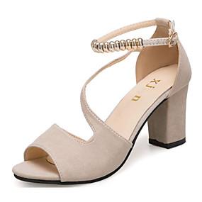 abordables Chaussures femme-Femme Chaussures à Talons Bout ouvert Billes Similicuir Escarpin Basique Eté Vert / Noir / Beige / EU39