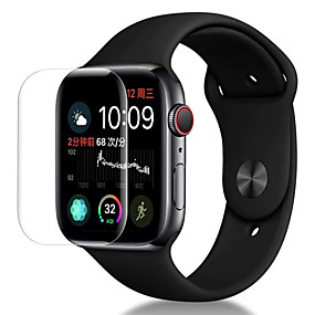 voordelige Smartwatch screenprotectors-Screenprotector Voor Apple Watch Series 4 PET High-Definition (HD) / Ultra dun 3 stuks