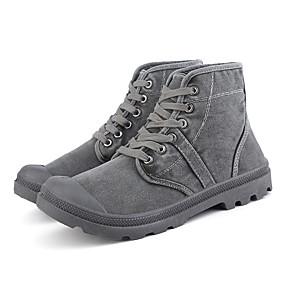 baratos Botas Masculinas-Homens Fashion Boots Lona Primavera Verão Clássico / Casual Botas Não escorregar Botas Curtas / Ankle Cinzento / Verde Tropa / Camel