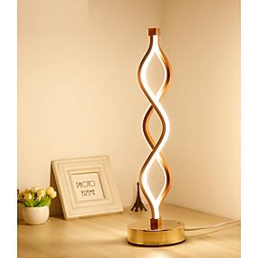 hesapli Masa Lambaları-Yaratıcı akrilik led masa lambası göz korumak yatak odası çalışma lambası sıcak kişilik modern basit dalga eğrisi yaratıcı lamba