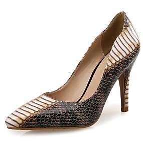 povoljno Pumps cipele-Žene Eko koža Proljeće & Jesen Posao Cipele na petu Stiletto potpetica Krakova Toe Bež / Kava / Color block