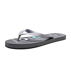 cheap Men's Shoes-Men's Comfort Shoes Rubber Summer Slippers & Flip-Flops Black / Gray