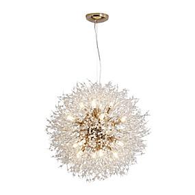 levne Závěsné lustry-16 světel moderní galvanicky pokovené lustry ohňostroj vedené nordic styl přívěsek světla obývací pokoj jídelna g9 žárovka základny