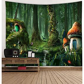 voordelige Wandtapijten-Bloemen Thema Muurdecoratie 100% Polyester Modern Muurkunst, Wandkleden Decoratie