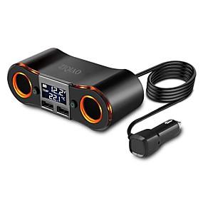 Недорогие 30%OFF-Ziqiao автомобильный прикуриватель двойной порт USB 2 прикуриватель адаптер питания светодиодный цифровой дисплей