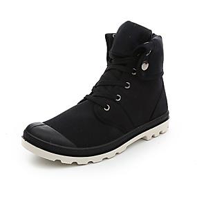 baratos Botas Masculinas-Homens Fashion Boots Lona Primavera Verão Clássico / Casual Botas Não escorregar Botas Curtas / Ankle Preto / Azul / Cinzento / Ao ar livre / Coturnos