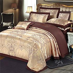 cheap High Quality Duvet Covers-Duvet Cover Sets Luxury / Contemporary Silk / Cotton Blend Jacquard 4 PieceBedding Sets