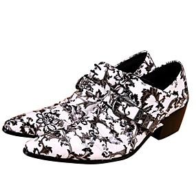 ราคาถูก รองเท้าOxfordสำหรับผู้ชาย-สำหรับผู้ชาย Novelty Shoes Synthetics ฤดูร้อนฤดูใบไม้ผลิ อังกฤษ รองเท้า Oxfords ความสูงเพิ่มมากขึ้น ขาว / งานแต่งงาน / พรรคและเย็น / พรรคและเย็น