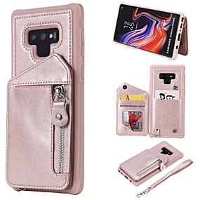 fbce87acb4d08 غطاء من أجل Samsung Galaxy Note 9   Note 8 محفظة   حامل البطاقات   ضد  الصدمات غطاء خلفي لون سادة قاسي جلد PU إلى Note 9   Note 8