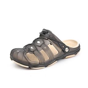 baratos Tamancos Masculinos-Homens Sapatos Confortáveis Borracha Verão Esportivo / Casual Tamancos e Mules Caminhada / Tênis Anfíbio Respirável Verde / Azul / Cinzento