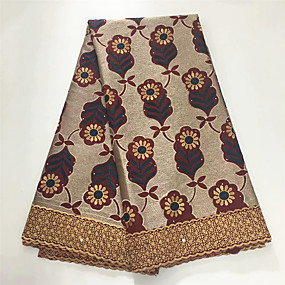 cheap Crafts & Sewing-African lace Florals Pattern 120 cm width fabric for Apparel and Fashion sold by the 5Yard