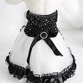 billige Praktiske gaver-Bryllup / Bursdagsfest Strekk Sateng Hundeklær Hunden kjoler kjoler - 1 pcs