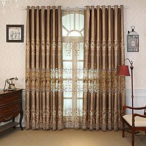 Χαμηλού Κόστους Κουρτίνες-Μοντέρνα κουρτίνες κουρτίνες Two Panels Κουρτίνα / Υπνοδωμάτιο