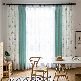cheap Top Sellers-Country Privacy One Panel Curtain Study Room / Office   Curtains
