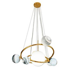 billige Hengelamper-nyhet glass anheng lett / moderne led g9 anheng lampe for stue show rom / gull elektroplated / varm hvit / hvit / kabel justerbar