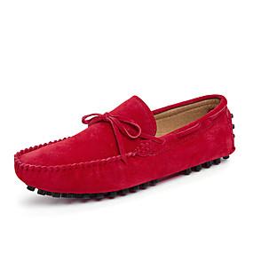 baratos Sapatos Náuticos Masculinos-Homens Mocassim Couro Sintético Primavera Verão Sapatos de Barco Não escorregar Preto / Vermelho / Azul
