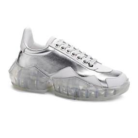 baratos Sapatos Esportivos Femininos-Mulheres Pele Napa Primavera Tênis Caminhada Creepers Branco / Prata