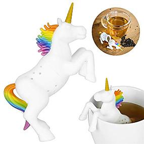povoljno Kava i čaj-jednorog oblik silikon čaj infuser cjedila filter labav čaj vrećicu lišća biljni