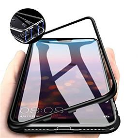 voordelige Mobiele telefoonhoesjes-hoesje Voor Huawei Huawei P30 / Huawei P30 Pro Magnetisch Volledig hoesje Effen Hard Gehard glas voor Huawei P20 / Huawei P20 Pro / Huawei P20 lite
