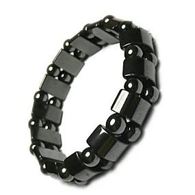 저렴한 건강 & 관리제품-조정 가능한 체중 감량 라운드 검은 돌 자석 치료 팔찌 건강 관리 럭셔리 슬리밍 제품