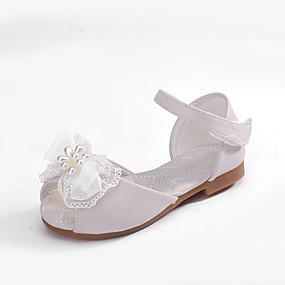 cheap New Arrivals-MRLOTUSNEE® Girls' Shoes Microfiber Summer / Fall Comfort / Flower Girl Shoes Sandals Bowknot for Kids / Toddler Light Pink / Ivory