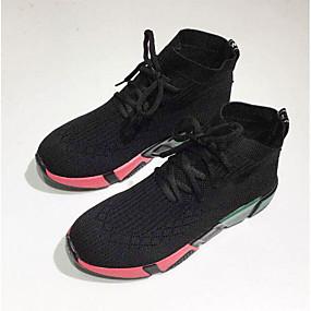 393165da143 Γυναικεία Δίχτυ Άνοιξη & Χειμώνας Αθλητικό / Καθημερινό Αθλητικά Παπούτσια  Τρέξιμο Επίπεδο Τακούνι Στρογγυλή Μύτη Μαύρο