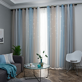 cheap Sale-Neoclassical Privacy One Panel Curtain Bedroom   Curtains / Jacquard