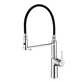 billige Uttrekkbar Spray-Kjøkken Kran - Enkelt Håndtak Et Hull Krom Uttrekkbar / Renset vann Centersat Moderne Kitchen Taps