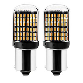 povoljno Car Signal Lights-2pcs 1156 / 7440 Automobil Žarulje 22 W SMD 3014 144 LED Žmigavac svjetlo / Svjetla za vožnju unatrag (backup) Za Univerzális Sve godine