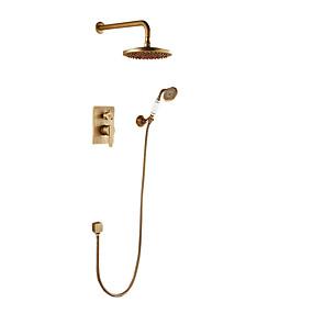 cheap Shower Faucets-Shower Faucet Antique Copper Wall Mounted Ceramic Valve Bath Shower Mixer Taps
