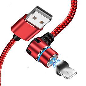 voordelige iPhone-kabel en laders-bliksem usb-kabel adapter gevlochten / snel oplaadkabel voor iphone 100 cm voor acetaat / nylon / luminescent