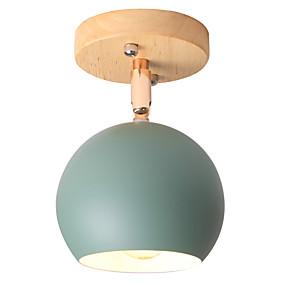 billige Hengelamper-Sirkelformet / Drum Anheng Lys Nedlys Malte Finishes Metall Justerbar 110-120V / 220-240V Varm Hvit / Kald Hvit