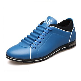 baratos Sapatilhas e Mocassins Masculinos-Homens Sapatos de couro Couro Primavera Verão Formais Mocassins e Slip-Ons Use prova Marron / Vermelho / Azul