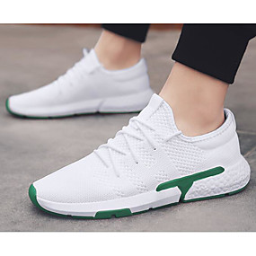 cheap Running Shoes-Men's Comfort Shoes Tissage Volant Summer Athletic Shoes Running Shoes Red / Black / White / White / Green