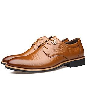 baratos Oxfords Masculinos-Homens Sapatos formais Pele Primavera / Outono Negócio / Casual Oxfords Não escorregar Preto / Marron / Festas & Noite / Festas & Noite / Sapatos de vestir