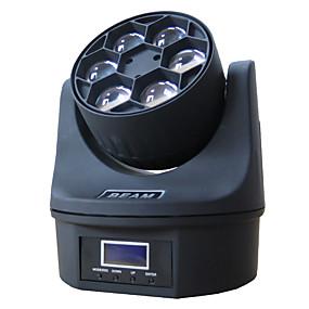 billige LED-kabinetlamper-1 sæt led lednings lys dmx512 lydstyring 6 perle øjne bevæger hoved lys farvende lys dj bar ballroom dekoration lys