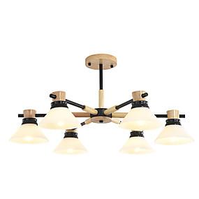 halpa Kattovalaisimet ja tuulettimet-Ecolight 8-Light Pyöreät / Sputnik Kattokruunu Alavalot Puu Puu / bambu Lasi Uusi malli, Tyylikäs 110-120V / 220-240V