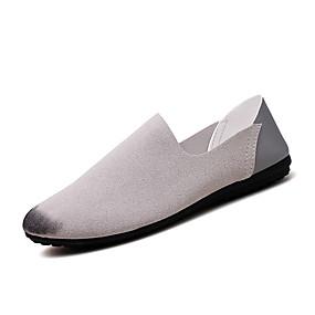 baratos Sapatilhas e Mocassins Masculinos-Homens Sapatos de Condução Camurça Primavera Casual Mocassins e Slip-Ons Respirável Preto / Vermelho / Cinzento
