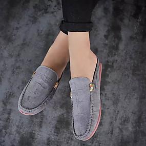 baratos Tamancos Masculinos-Homens Sapatos Confortáveis Couro Ecológico Verão Casual Tamancos e Mules Não escorregar Preto / Azul Escuro / Cinzento