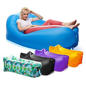 ราคาถูก -0.5-21Grams Air Sofa Inflatable Sofa โซฟาพองลม กลางแจ้ง แคมป์ปิ้ง กันน้ำ Portable กว้างพิเศษ ไนลอน ชายหาด แคมป์ปิ้ง กลางแจ้ง สำหรับ 1 คน / พองได้อย่างรวดเร็ว
