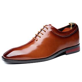 baratos Oxfords Masculinos-Homens Sapatos formais Sintéticos Outono / Primavera Verão Negócio / Casual Oxfords Não escorregar Preto / Vinho / Marron / Mocassim / Mocassim / Sapatos de vestir