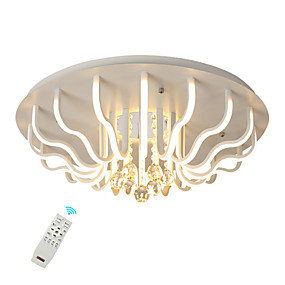 cheap Ceiling Lights & Fans-LED60W Crystal Ceiling Light/ Modern LED Flush Mount Lights for Living Room Bedroom New Design Creative/ Warm White/ White/ Dimmable with Remote Control