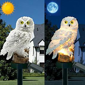halpa Polun valot-pöllö auringonvalo aurinkopaneelilla väärennetty pöllö vedenpitävä auringon puutarha valot pöllö koriste eläin lintu ulkona piha puutarhavalaisimet