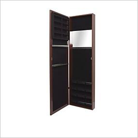 povoljno Namještaj za spavaću sobu-zid / vrata montirati nakit armoire / full length ogledalo u trešnja završiti