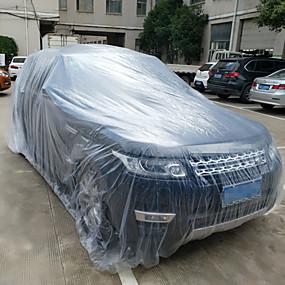 voordelige Autohoezen-3 size ldpe film outdoor clear wegwerp full car cover regen / stofdicht garage universele tijdelijke