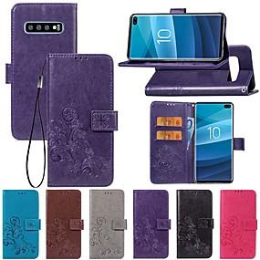 hesapli Cep Telefonu Kılıfları-Pouzdro Uyumluluk Samsung Galaxy S9 / S9 Plus / S8 Plus Cüzdan / Satandlı / Flip Tam Kaplama Kılıf Solid / Kelebek / Çiçek Sert PU Deri