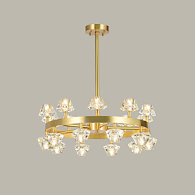 cheap Ceiling Lights & Fans-ZHISHU Crystal / Empire / Industrial Chandelier Ambient Light Electroplated Copper Crystal, New Design 110-120V / 220-240V Warm White / White