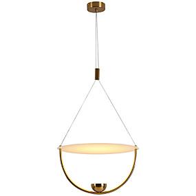 abordables Plafonniers-Mini Lampe suspendue Lumière dirigée vers le bas Plaqué Métal Antireflet, Protection des Yeux, Design nouveau 110-120V / 220-240V