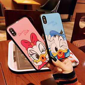 cheap iPhone Cases-Case For Apple iPhone XS Max / iPhone 6 Pattern Back Cover Cartoon Hard Tempered Glass for iPhone XS / iPhone XR / iPhone XS Max