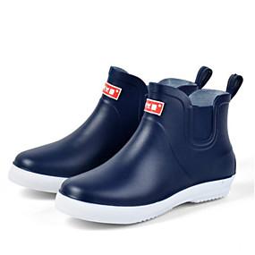 baratos Botas Masculinas-Homens Botas de Chuva PVC Primavera Verão Botas Preto / Azul Escuro / Cinzento
